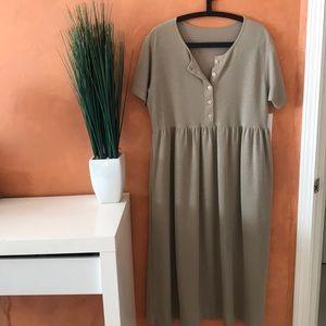 VINTAGE | midi babydoll dress